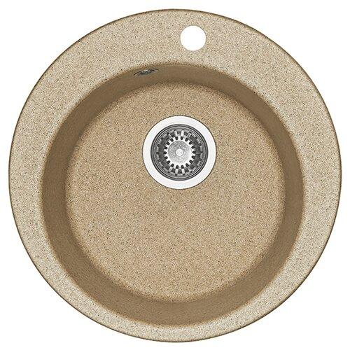 Фото - Врезная кухонная мойка 48 см АКВАТОН Иверия песочный кухонная мойка песочный акватон верона 1a710032vr220
