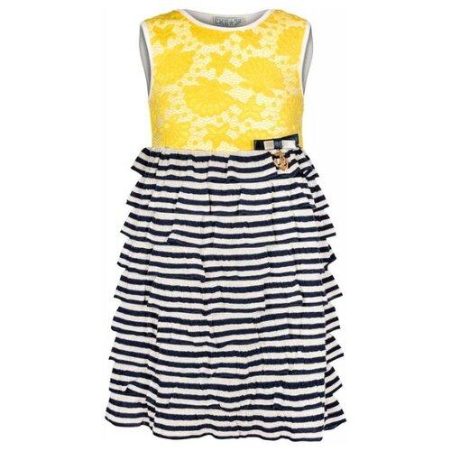 Платье SMENA размер 104/56, синий/желтый платье smena размер 104 56 синий желтый