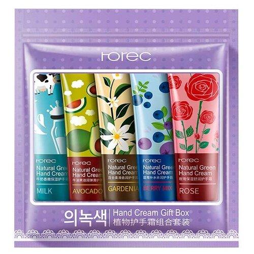 Набор кремов для рук Rorec с экстрактами растений 5 шт 30 мл