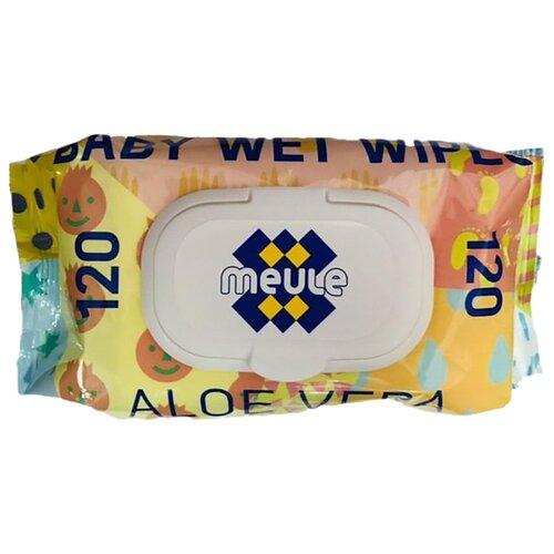 Купить Влажные салфетки Meule детские с алоэ вера пластиковая крышка 120 шт.