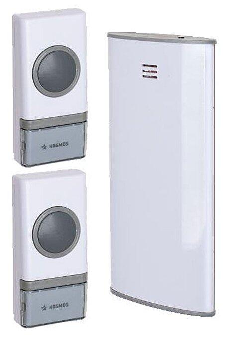 Звонок с кнопкой КОСМОС KOC AG307C2 электронный беспроводной (количество мелодий: 32)