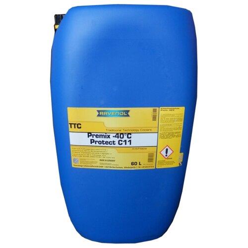 Антифриз Ravenol TTC - Protect C11 Premix -40ºC 60 л антифриз ravenol hjc hybrid japanese coolant premix 40°c готовый цвет зеленый 5 л