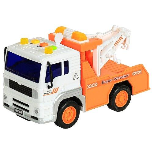 Купить Эвакуатор WenYi WY541B 1:20 17 см белый/оранжевый, Машинки и техника
