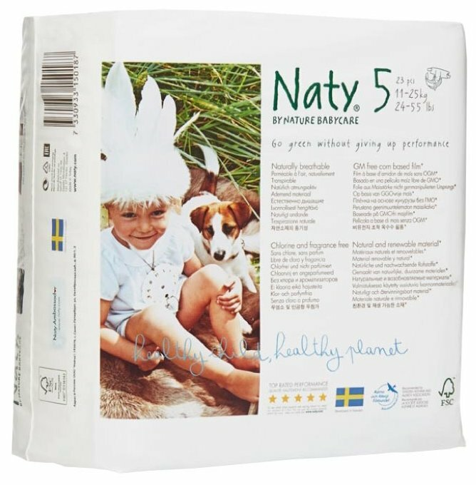 Naty подгузники 5 (11-25 кг) 23 шт.