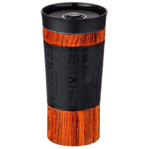 Термокружка Agness 709 (0,38 л) коричневый/черный термокружка agness 380 мл 709 065