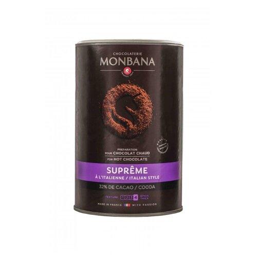 горячий шоколад caffe diemme classic chocolate 1 кг Monbana Supreme Горячий шоколад растворимый, банка, 1 кг