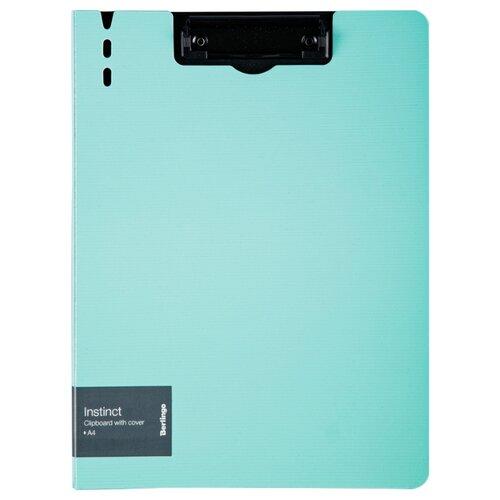 Купить Berlingo Папка-планшет с зажимом Instinct A4, полифом мятный/черный, Файлы и папки