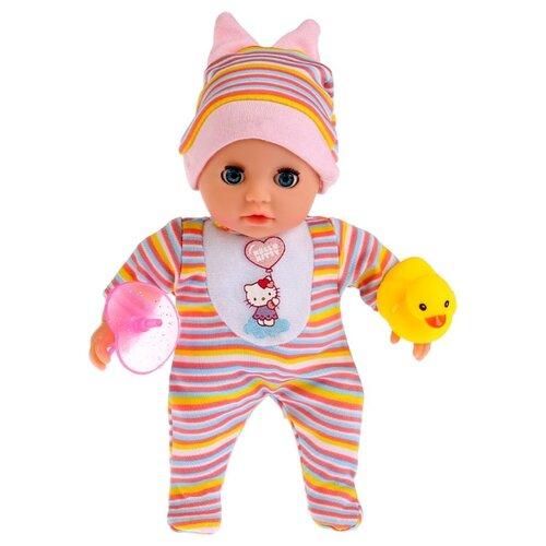 Интерактивный пупс Карапуз Hello Kitty, 20 см, в полосатой одежде, Y20ST-BB-RU интерактивный пупс карапуз настенька 40 см 1520 ru
