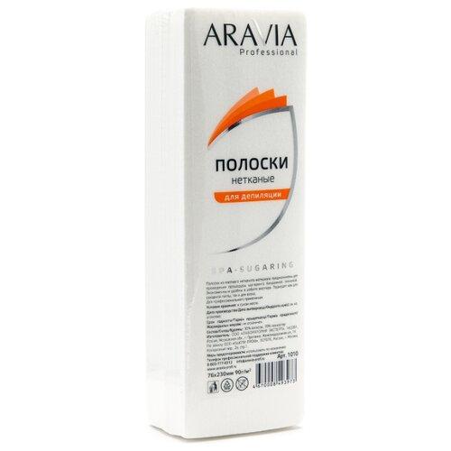 ARAVIA Professional Полоски нетканые 23 х 7.6 см 100 шт. белый aravia полоски spa sugaring нетканые для депиляции 76 230 мм 90 г м 100 шт уп
