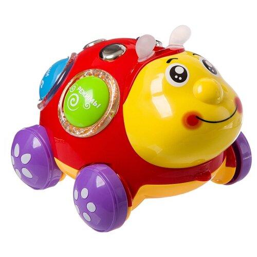 Интерактивная развивающая игрушка Play Smart Чудо жук красный/желтый игрушка пластмассовая каталка вертолет play smart pac 28х15х10 см арт 1192