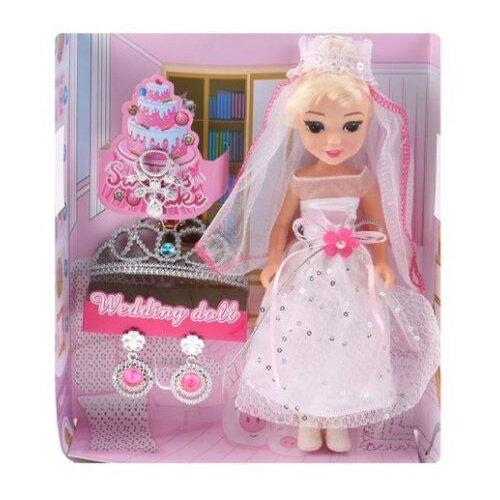 Купить Кукла Shantou Gepai Невеста с аксессуарами 22 см 200357989, Куклы и пупсы
