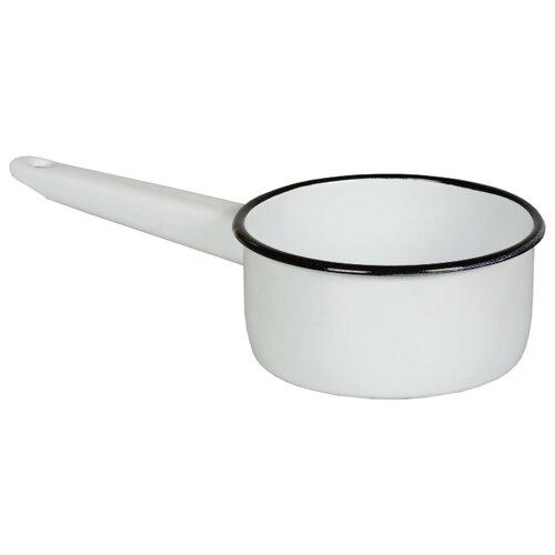 Ковш СтальЭмаль 2С22 1 л, белоснежный ковш стальэмаль 1 л без рисунка