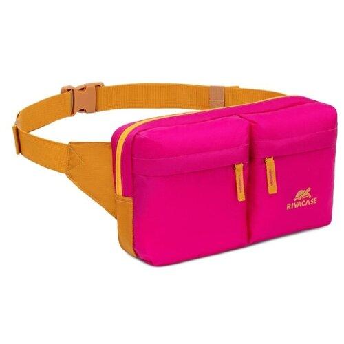 Сумка поясная RIVACASE, текстиль, pink сумка поясная kite время и стекло vis19 2562 текстиль