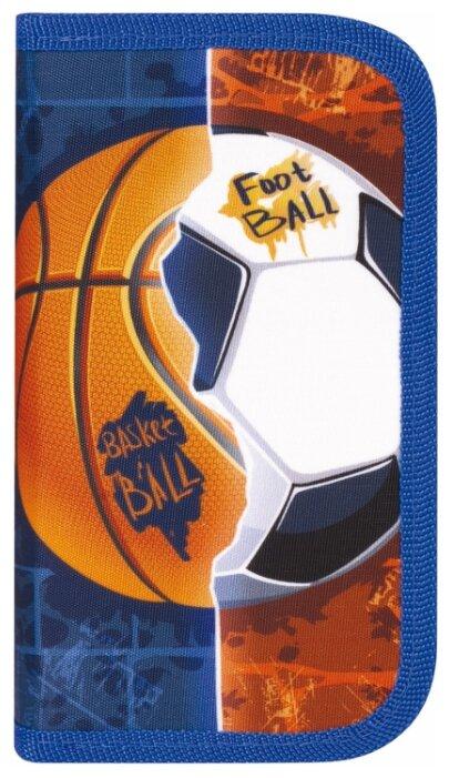Купить Юнландия Пенал Sports Ball (229158) синий/оранжевый по низкой цене с доставкой из Яндекс.Маркета