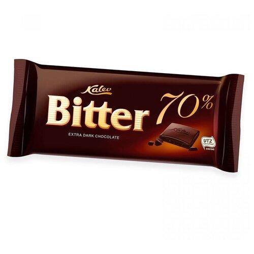 Шоколад Kalev Bitter горький 70%, 100 г цена 2017