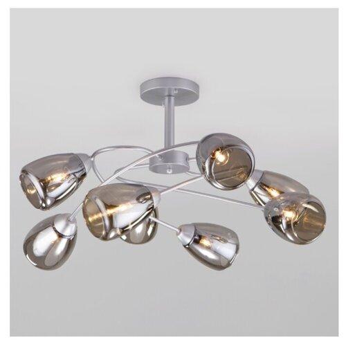 Люстра Eurosvet Noemi 30168/8 матовое серебро, E27, 480 Вт люстра евросвет 30163 8 матовое серебро