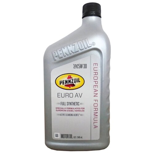 Фото - Моторное масло Pennzoil Euro AV 5W-30 0.946 л моторное масло pennzoil gold synthetic blend sae 5w 30 0 946 л