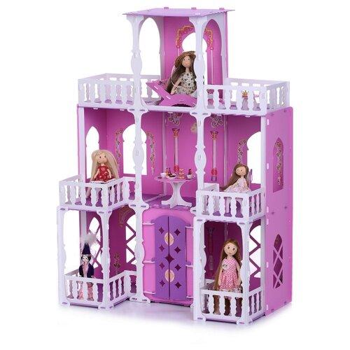 Купить KRASATOYS кукольный домик Малика 000278, бело-розовый, Кукольные домики