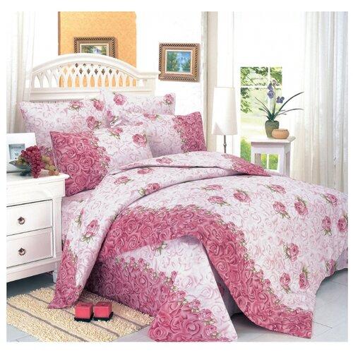 Постельное белье 2-спальное СайлиД A-31, поплин, 2 наволочки 70 х 70 см, розовый