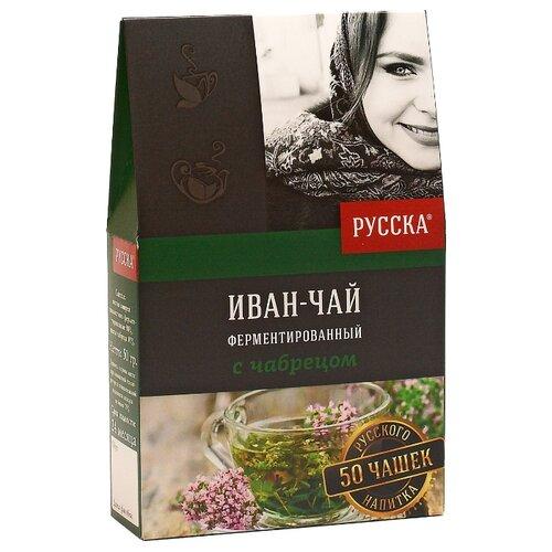 Чай травяной Русска Иван-чай с чабрецом, 50 г чай травяной столбушинский иван чай с чабрецом и дущицей 30 г