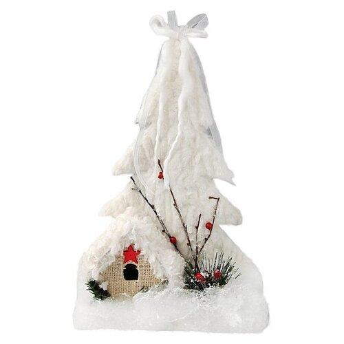 Фигурка Новогодняя Сказка Снежный городок 25 см (973017) белый