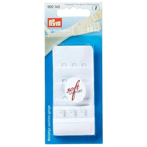 Prym Удлинитель застежки бюстгальтера 4 см 992145, белый