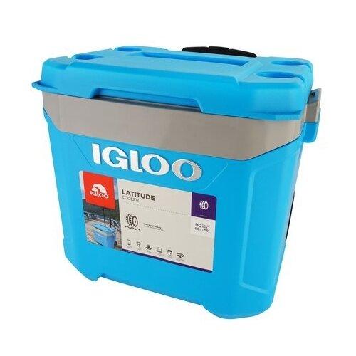 Термоэлектрический автохолодильник Igloo Latitude 60 Roller Cyan blue