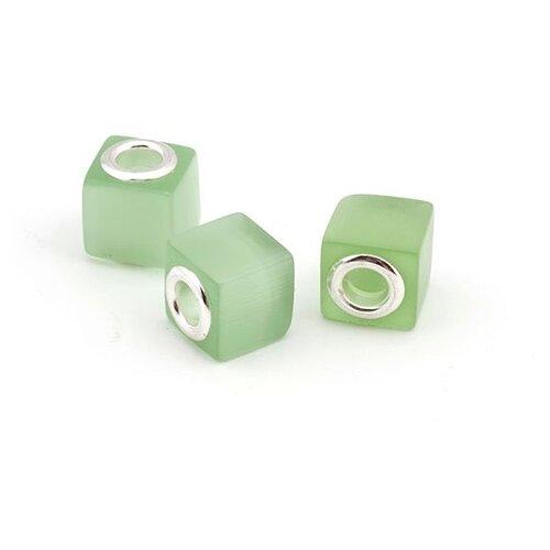 Бусины керамические Tesoro, зеленый, 10 штук, PN.SC06.03