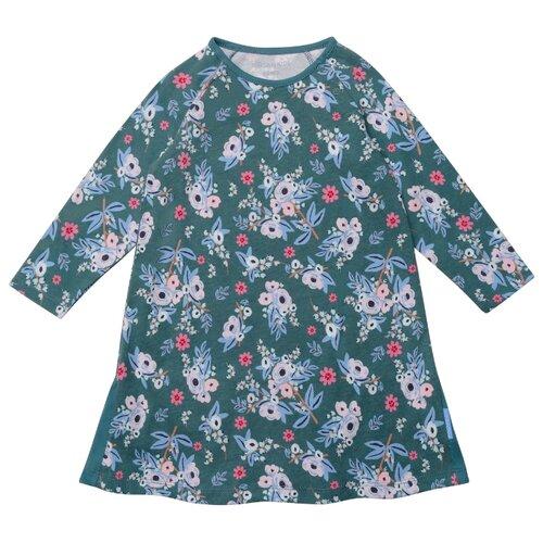 Платье Kogankids размер 80, зеленый/цветы