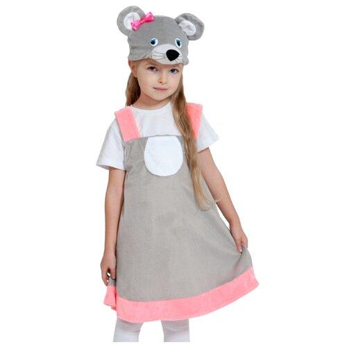 Купить Костюм КарнавалOFF Мышка серая плюш (3028), серый, размер 92-122, Карнавальные костюмы