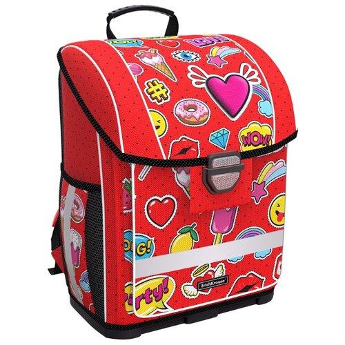 цена ErichKrause ранец ErgoLine Sweet Love, красный онлайн в 2017 году