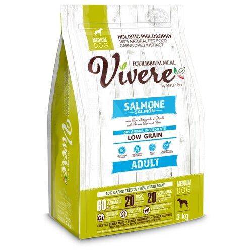 Сухой корм для собак Vivere лосось 3 кг (для средних пород)