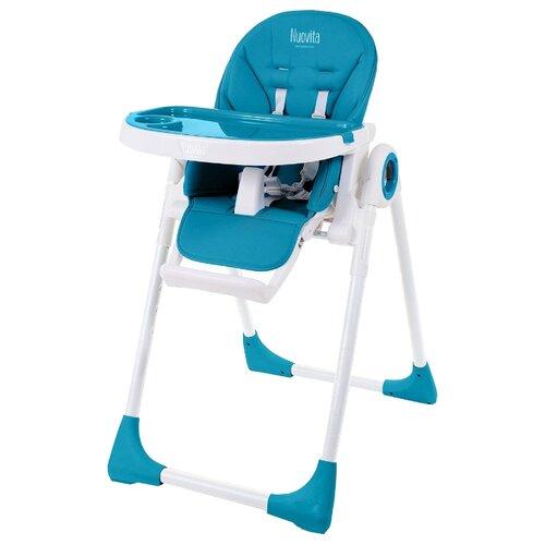 Стульчик для кормления Nuovita Lembo бирюзовый/белый стульчик для кормления babys piggy розовый