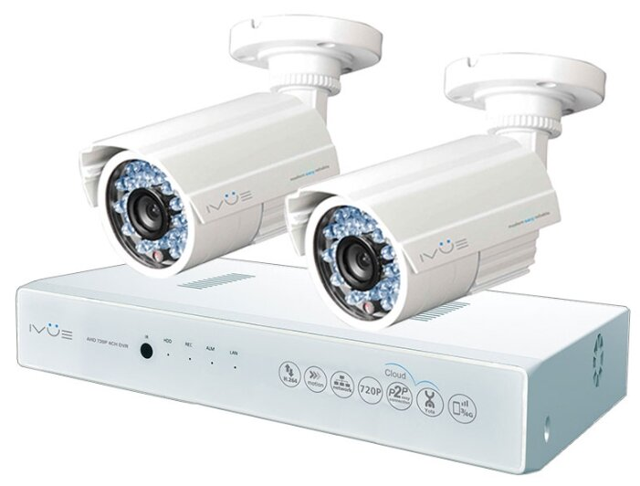 Комплект видеонаблюдения IVUE D5004 AHC B2