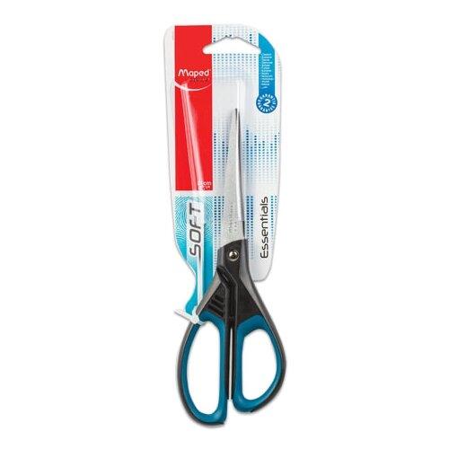 Maped Ножницы Essentials Soft асимметричные 21 см черный/синий