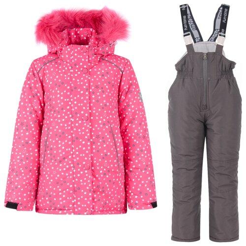 Купить Комплект с полукомбинезоном Fun time FW19NM314O размер 110, розовый/серый, Комплекты верхней одежды
