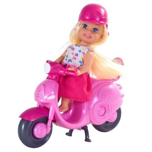 Купить Кукла Наша игрушка на мотороллере 9 см K899-23, Куклы и пупсы