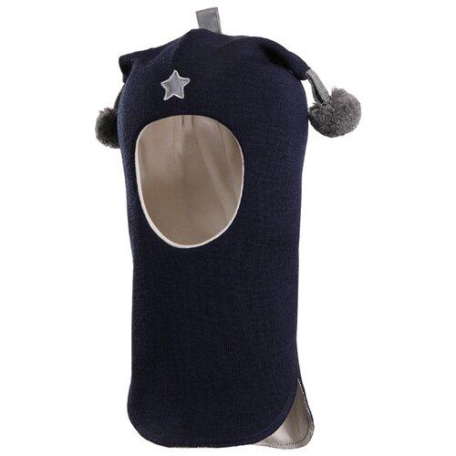Шапка-шлем Kivat размер 1, синий/серый kivat шлем синий в полоску