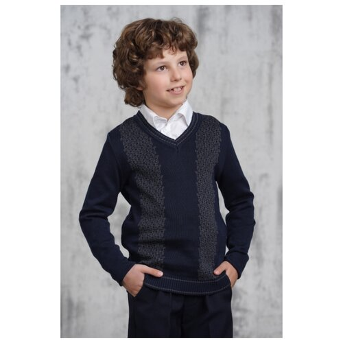 Пуловер VAY размер 152, синий/серый