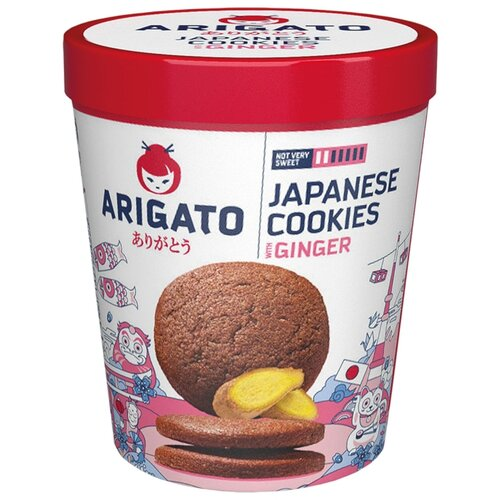 Печенье Arigato Japanese Cookies сдобное имбирное, 100 г lambertz world cookies munich печенье с шоколадом 100 г