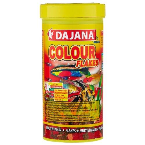 Сухой корм для рыб Dajana Pet Colour Flakes 500 мл 100 г сухой корм для рыб dajana pet malawi flakes 1000 мл 200 г