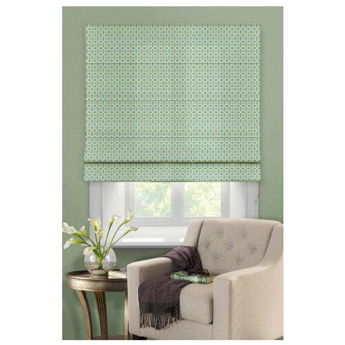 Римская штора Эскар Линза (зеленый), 80х160 см римская штора томдом лизорин