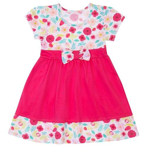 Платье ALENA размер 110-116, ярко-розовый