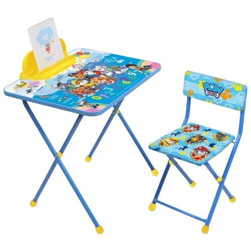 Купить Комплект Nika Щенячий патруль (Щ1) 60x45 см синий/желтый, Парты и столы