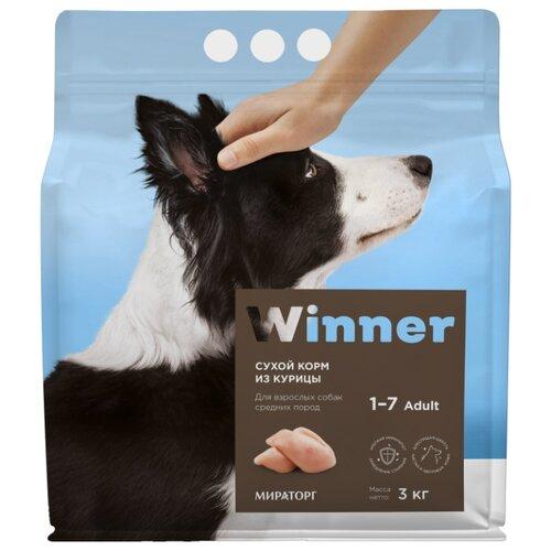 Сухой корм для собак Winner 3 кг (для средних пород)