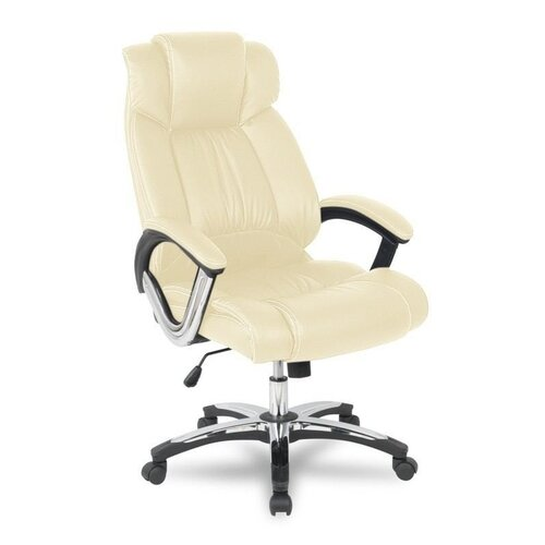 цена Компьютерное кресло College H-8766L-1, обивка: искусственная кожа, цвет: бежевый онлайн в 2017 году