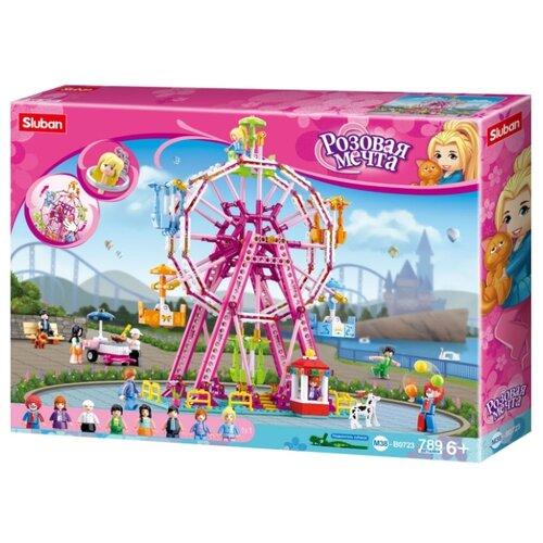 Купить Конструктор SLUBAN Розовая мечта M38-B0723 Колесо обозрения, Конструкторы