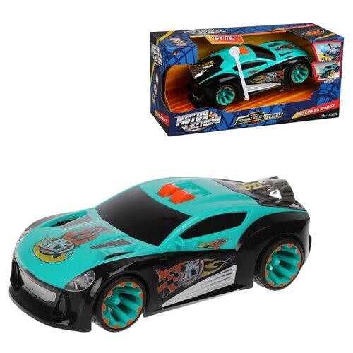 Фото - Легковой автомобиль Наша игрушка 12030 35 см черный/голубой товары для праздника наша игрушка вертушка цветочек с липестками 35 см