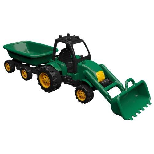 Трактор Terides Т8-055 60 см черный/зеленый/желтый, Машинки и техника  - купить со скидкой