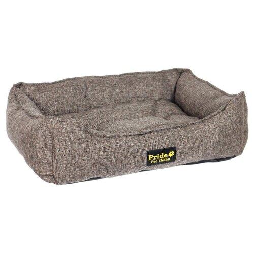 Лежак для собак PRIDE Прованс 90х80х25 см кофе